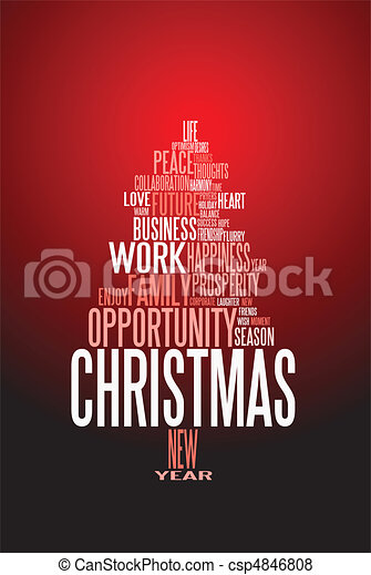 Abstract christmas card with season words - csp4846808