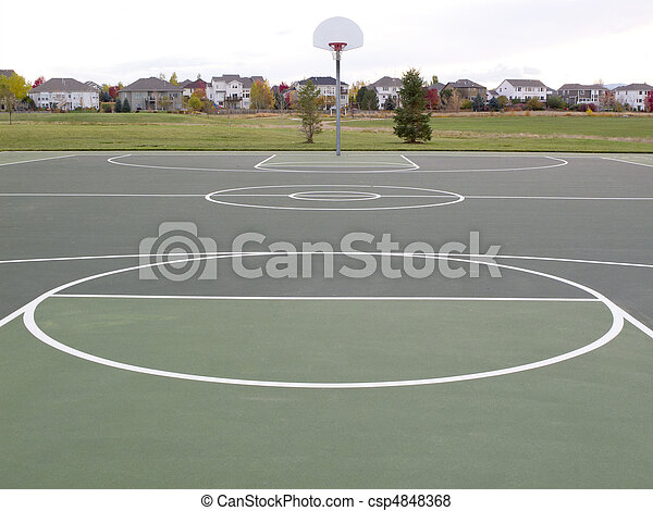 recreational basketball court - csp4848368