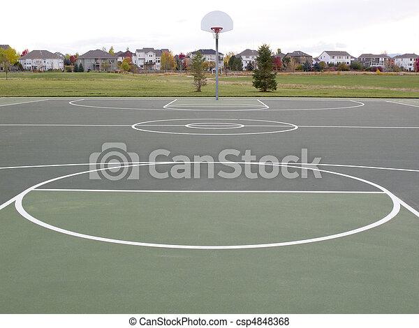 recreational basketball court - csp4848368