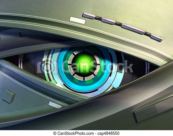 Digital Eye Drawing Robot Eye Csp4848550