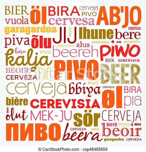言語, 世界, 別, ビール - csp48485659