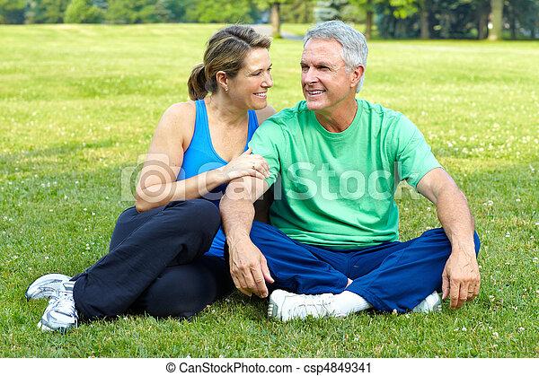 elderly seniors couple - csp4849341