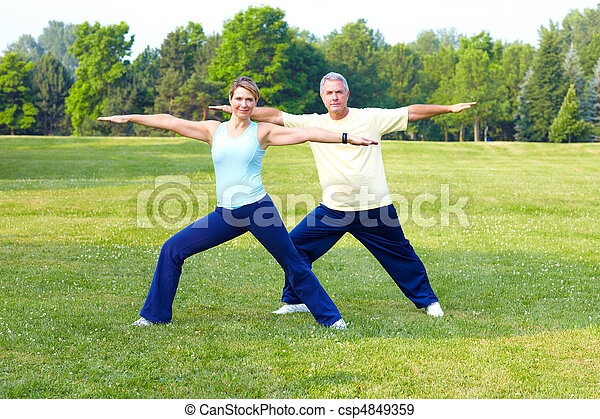 seniors fitness - csp4849359