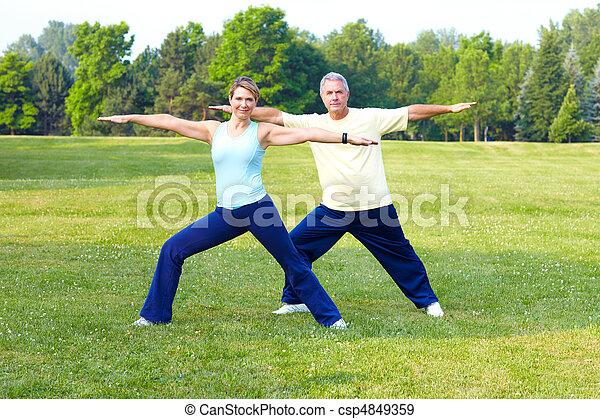 seniors fitness - csp4849359