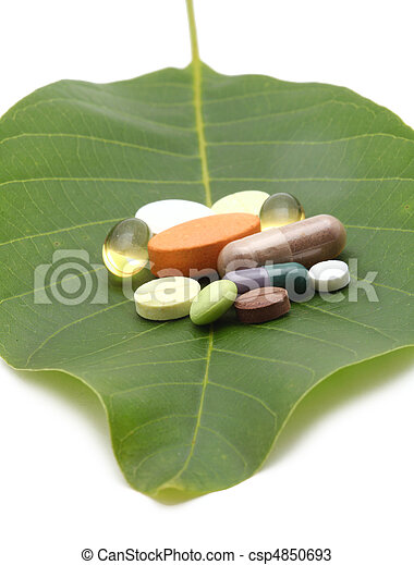 vitamins, tablets and pills  - csp4850693