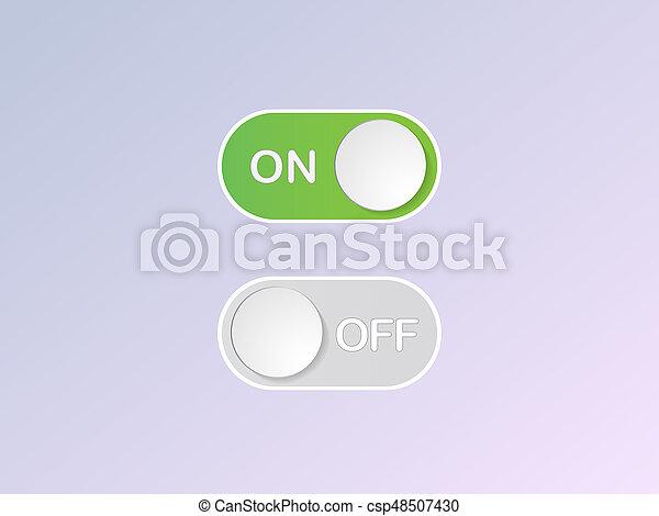 plat, van, knoop, knevel,  switch,  Vector, pictogram - csp48507430