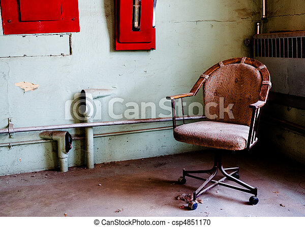 Office chair in prison room - csp4851170