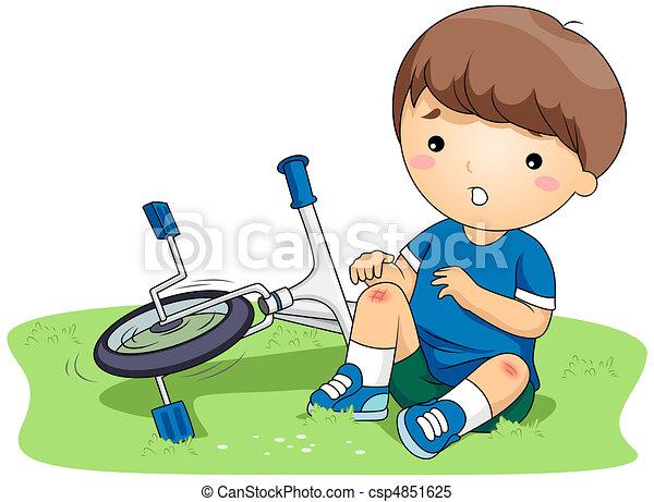 machucado, criança - csp4851625