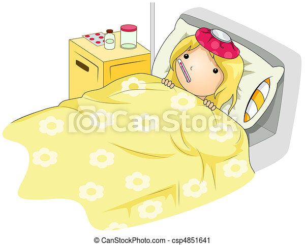 Sick Kid - csp4851641