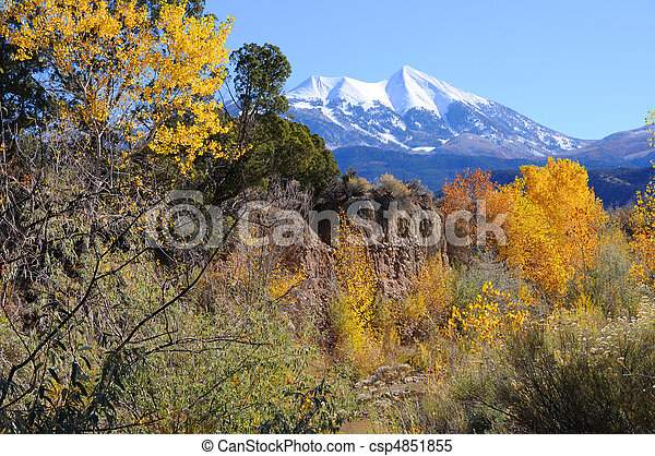 La Sal Mountains in Fall - csp4851855