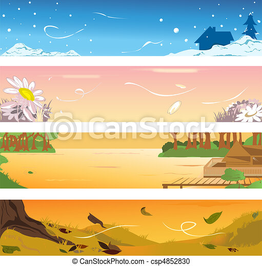Four seasons banners - csp4852830