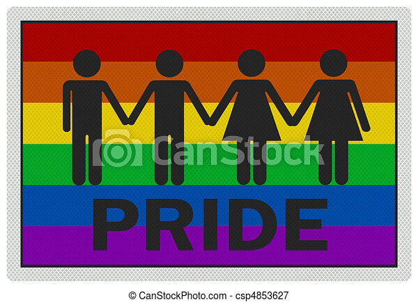 'Gay Pride' - photo realistic sign, isolated on white - csp4853627