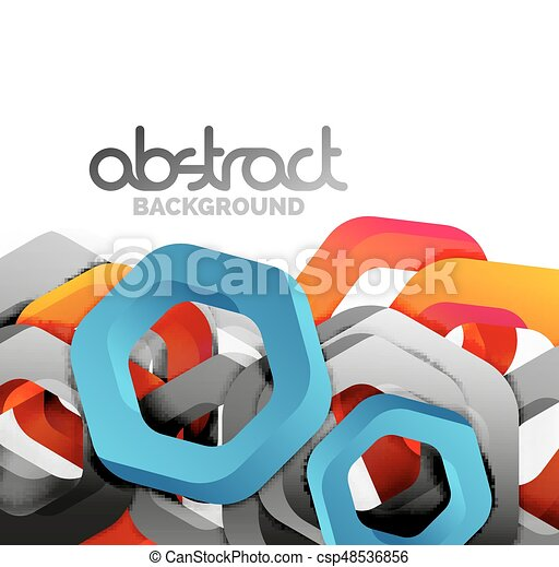 Overlapping hexagons design background - csp48536856