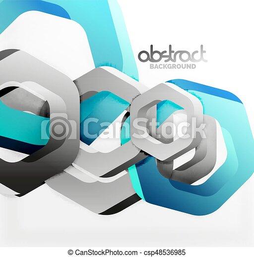 Overlapping hexagons design background - csp48536985