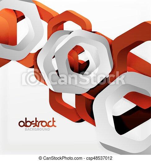 Overlapping hexagons design background - csp48537012
