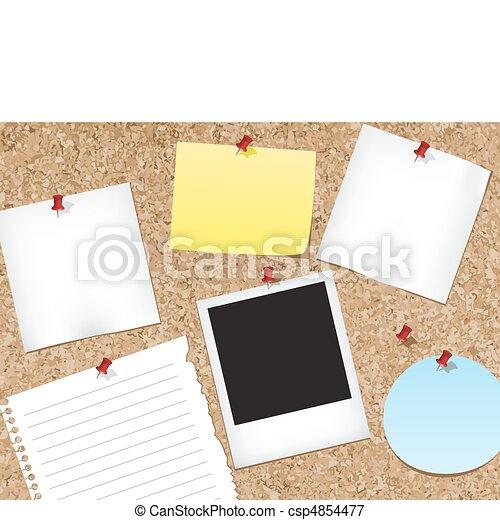 Cork bulletin board - csp4854477