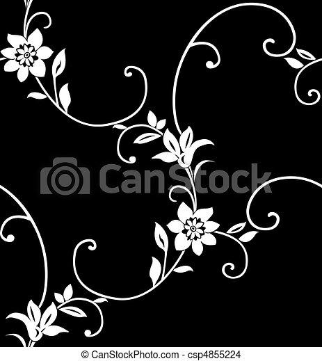 Floral seamless pattern - csp4855224