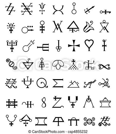 向量 Runes 神秘 符號 插圖 免版稅插圖 美工圖像 標誌 線條藝術 Eps 照片 照片
