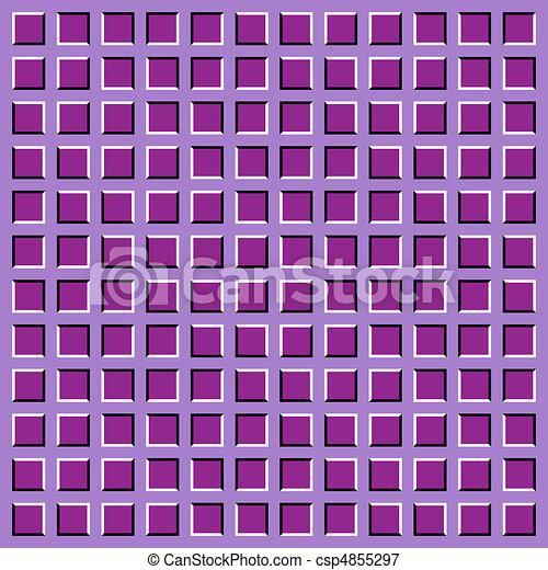 optical illusion.apparent motion - csp4855297
