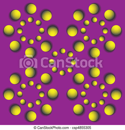 rotating balls.optical illusion - csp4855305