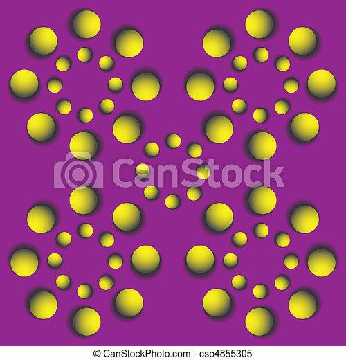rotating balls.optical illusion - csp4855305
