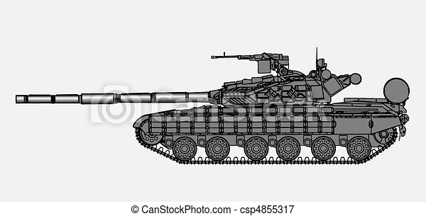 Russian tank - csp4855317