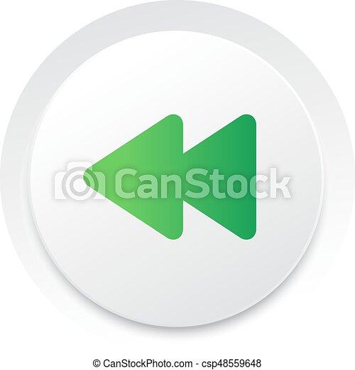 keerzijde, eenvoudig, knoop,  Vector, Muziek,  interface,  UI, cirkel - csp48559648