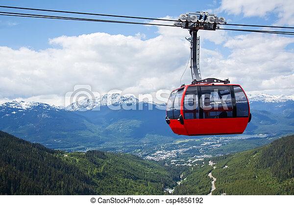 Aerial tram at Whistler Peak, Canada - csp4856192