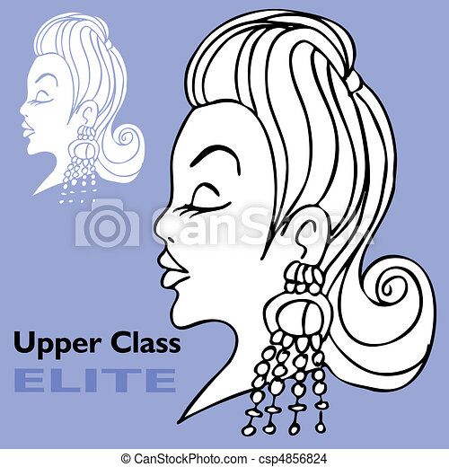 EPS Vector of Elite Girl with Big Earrings - An image of a elite ...