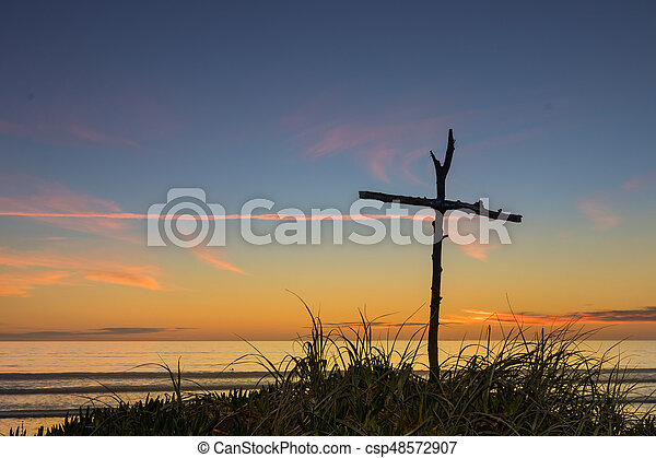Beach Stick Cross - csp48572907