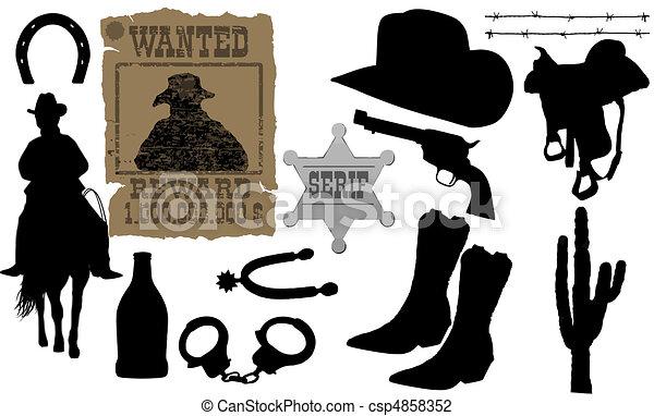 elements for cowboy life - csp4858352