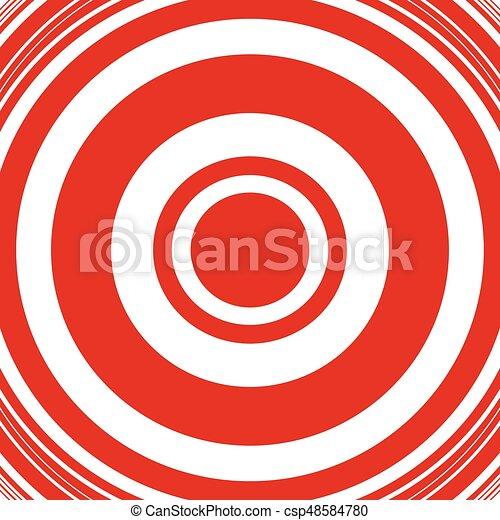 círculos, irradiar, patrón, resumen, pattern., /, círculos, anillos, radial, monocromo, geométrico, concéntrico, circular - csp48584780