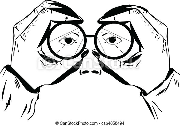 EPS Vector of Partial Face and Binoculars - A vector ...