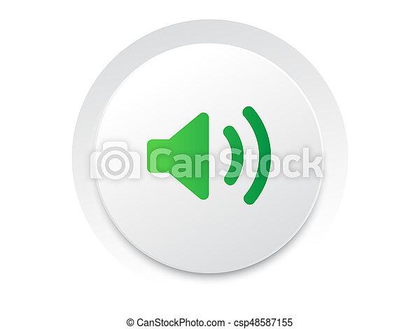 geluid, eenvoudig, knoop,  unmute,  Vector, Muziek,  interface,  UI, cirkel - csp48587155