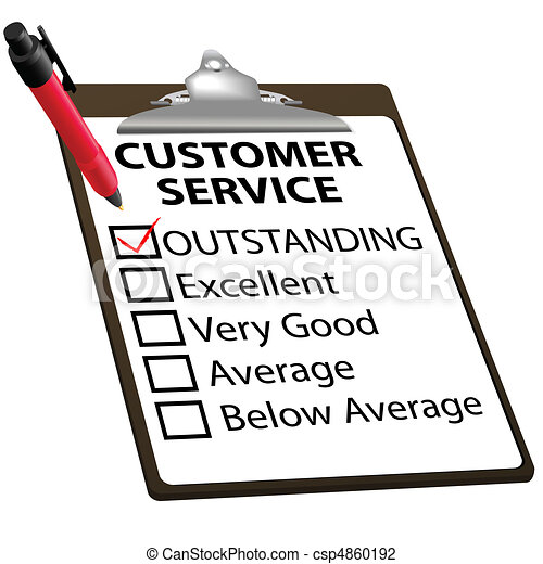Outstanding CUSTOMER SERVICE evaluation report form - csp4860192