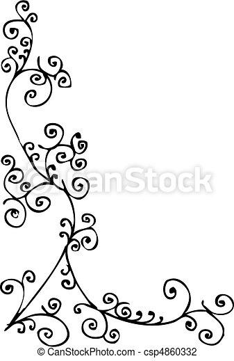 Baroque Frozen vignette III - csp4860332