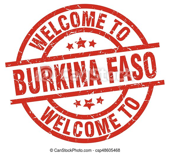 welcome to Burkina Faso red stamp - csp48605468