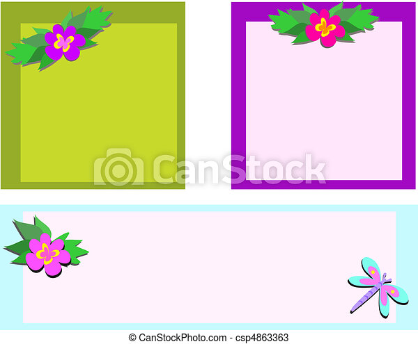 Mix of Frames with Flowers and Drag - csp4863363