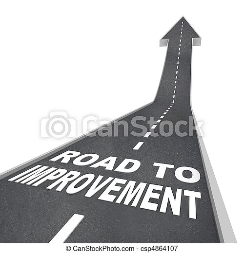 Road to Improvement - Words on Street - csp4864107