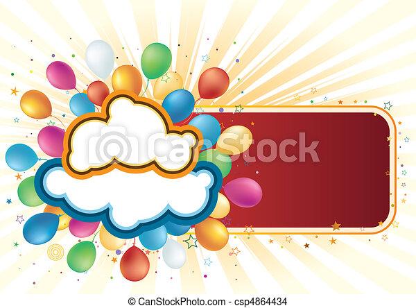 vector balloon and celebration - csp4864434