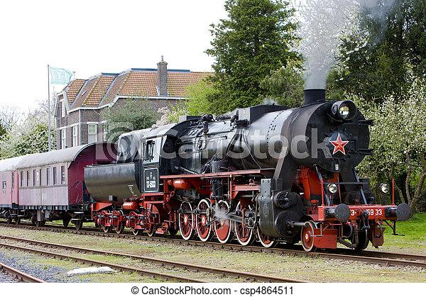 steam train, Veendam - Stadskanaal, Netherlands - csp4864511