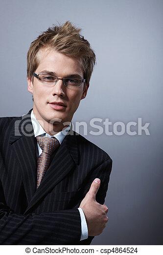 Stylish businessman - csp4864524