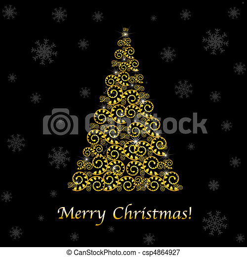 Abstract Christmas Tree - csp4864927