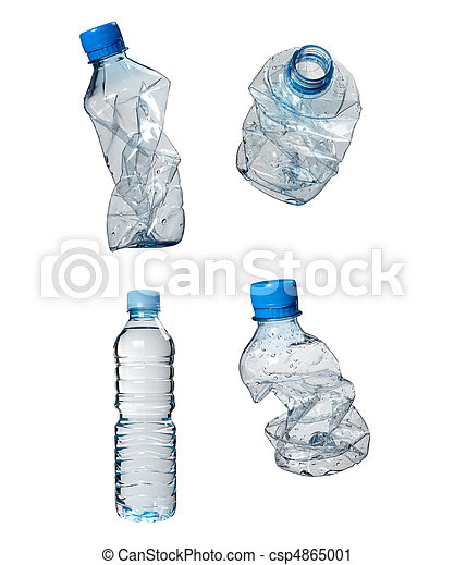 plastic bottles trash waste ecology - csp4865001