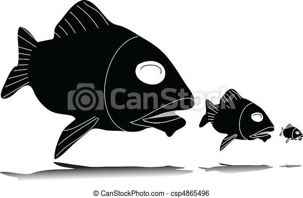 fish eat fish  - csp4865496
