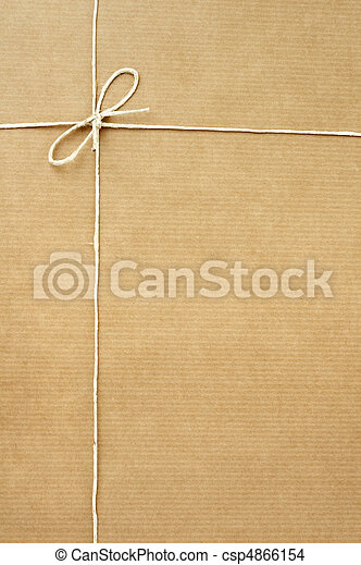 close up of carton box post package on white background