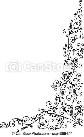 Baroque Frozen vignette IX - csp4866477