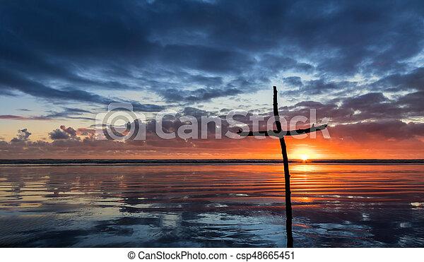 Reflection Stick Cross Salvation - csp48665451