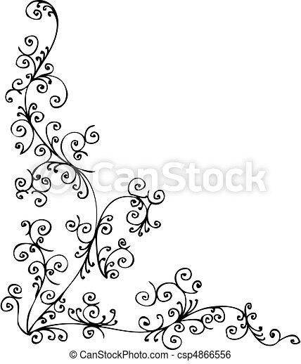 Baroque Frozen vignette XVIII - csp4866556