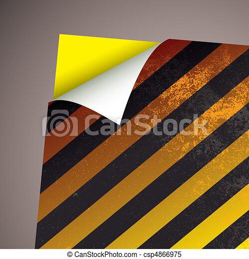 wallpaper paper curl stripe - csp4866975